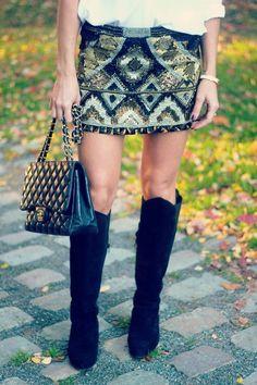 Tilda Bjärsmyr » #sequin #skirt.  #