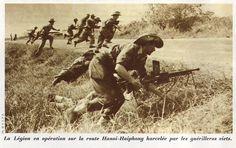 La légion en opération sur la route Hanoi-Haiphong, harcelée par les guérilleros viets.