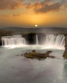 Waterfall of the gods in Iceland