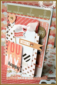 TERESA COLLINS DESIGN TEAM: Debut!! You Are My Happy Collection!! A mini book with Cheri Piles