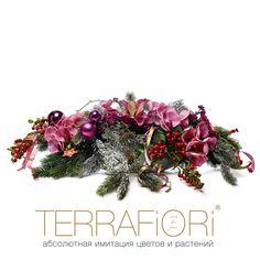 orchidea e abete Композиция в лодке с еловыми ветками, бордовыми орхидеями, красными ягодами и новогодним декором. Новогодняя лодка с орхидеями 9 500 руб. / 8100 ?