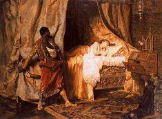 Otelo y Desdémona por Muñoz Degrain, pintura de 1881