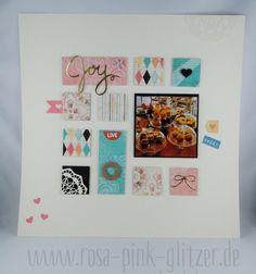 www.rosa-pink-glitzer.de: Layout mit Cupcakes & Karussells