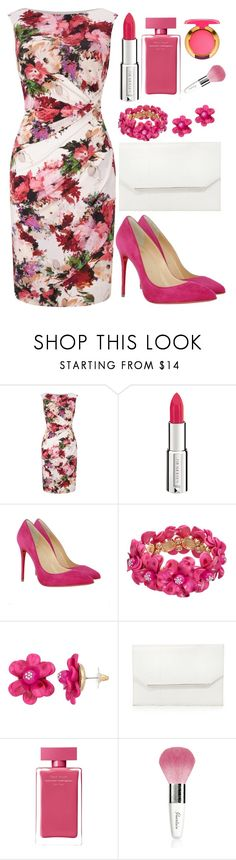 """""""Untitled #4535"""" by natalyasidunova ❤ liked on Polyvore featuring Phase Eight, Givenchy, Christian Louboutin, BCBGMAXAZRIA, Narciso Rodriguez, Guerlain and MAC Cosmetics"""