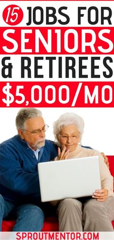 15 online jobs for retirees who want to make money online during their spare time after retirement. #retirees #retirement #jobsforretirees #retirementplanning #onlinejobs #makemoneyonline #workfromhome #workfromhomejobs #sidehustles #extracashideas #makemoneyfromhome