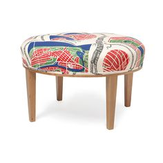 Stool 647 was designed by Josef Frank in 1936 for an interior at the Millesgården house and studio. It works equally well as a seat by the coffee table as it does as a footstool.