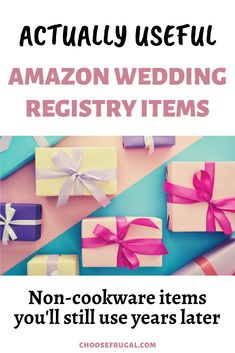 Planning your Amazon wedding registry checklist? Click through to read these Wedding registry ideas that you won't regret. Not just basic cookware, but actually useful Amazon finds and wedding gift ideas that all newlywed homes need. Figuring out how to plan a wedding can be time-consuming so make sure you read through these wedding planning tips for your list of Amazon must-haves! #weddingtips #weddingideas #weddingregistry #Amazon Amazon Registry Wedding, Wedding Registry Checklist, Wedding Planning Tips, Wedding Tips, Wedding Reception On A Budget, Cheap Wedding Decorations, Memory Frame, Diy Wedding Projects, Newlywed Gifts