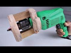 How to Make a Wooden Router Attachment for a Drill machine. Router Drill, Wood Router, Wood Tools, Diy Tools, Dremel, Woodworking Workshop, Woodworking Projects, Garage Tools, Homemade Tools