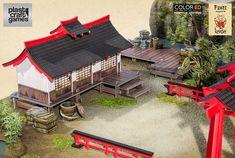 Dungeons And Dragons Miniatures, Mini Zen Garden, Game Terrain, Shots Ideas, Diorama Ideas, Japanese History, Wargaming Terrain, Fantasy Places, Ideas