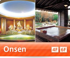 Spa world: Onsens with themes from around the world & three large water slides