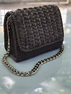 Items similar to Crochet bag on Etsy Diy Crochet Bag, Crochet Bag Tutorials, Sewing Tutorials, Crochet Handbags, Crochet Purses, Yarn Bag, Diy Handbag, Bobble Stitch, Macrame Bag