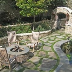 Image result for patio stones with moss between