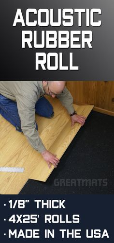 Athletic Acoustic Rubber Sound Reduction Underlayment 25 Ft Roll Underlayment Flooring Underlayment Residential Flooring