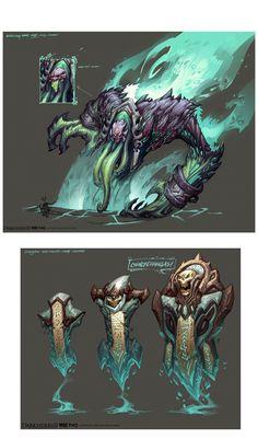 Artes do game Darksiders II, por Avery Coleman | THECAB - The Concept Art Blog