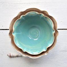 ceramic flower bowl by Lee Wolfe; beautiful shape!