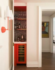 Beyond Storage: Four Uses for Closet Spaces   Centsational Style La French, Closet Bar, Secret Bar, Built In Bar, Home Bar Designs, Corner Storage, Wine Storage, Storage Spaces, Bars For Home