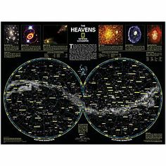The Heavens Map | National Geographic Store