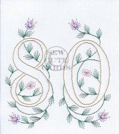 80th birthday card by Sew Cute Cards www.fb.com/sewcutecards…