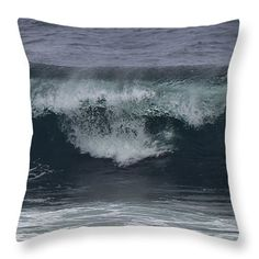 "Stormy Waves Throw Pillow 14"" x 14"""