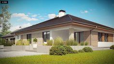 Projekty domów Z500, Domy jednorodzinne Custom Homes, Planer, My Dream, Farmhouse, Mansions, House Styles, Outdoor Decor, Home Decor, Holiday
