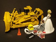 No Working CAT Die Cast TRACTOR Caterpillar Bride and by mikeg1968