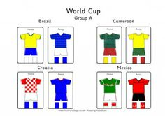 World Cup Group Kit Printables www.bandltd.org.uk
