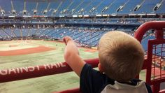 Our first Rays game at the Trop