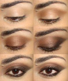 Coole Schminktipps für braune Augen - trendy Ideen