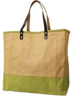 Red Shed Burlap Bag Eco-Friendly Reusable Handbag Large Natural Tote Brown