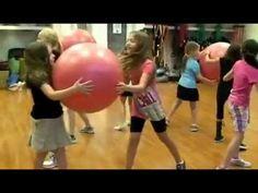 Kids ball circle game - fun idea for Zumba Kids class.