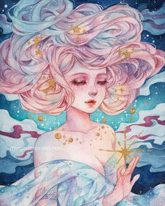 quirky art - Margaret Morales is creating watercolor paintings and drawings Art And Illustration, Illustrations, Watercolor Girl, Watercolor Artists, Watercolor Paintings, Anime Kunst, Anime Art, Pretty Art, Cute Art
