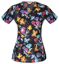 """Paint a Posy"" in this scrub top from Code Happy! #Medicalscrubs #butterfly 