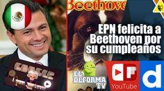 EPN felicita a Beethoven por su cumpleaños le pide que filme otra película