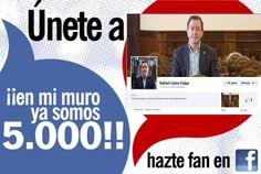 El Alcalde de Segorbe, estrena página en facebook, tras alcanzar 5.000 amig@s en su muro