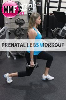Prenatal Legs Workout.  Safe EXERCISES to do during #PREGNANCY to not gain Excess Weight in the LEGS and BUTT.  Lots of PRENATAL WORKOUT tips.  http://www.michellemariefit.com/prenatal-legs-workout1