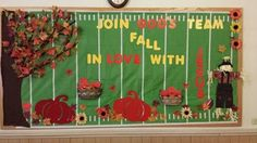Fall Bulletin Board for Sunday School:  Join God's Team, Fall in Love with JESUS