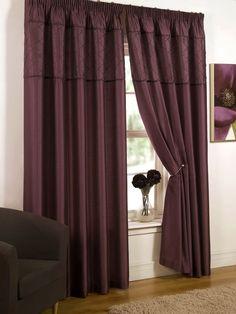 Gem Pencil Pleat  Grape Ready Made Curtains
