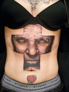 This Hannibal Lecter tattoo by Manu Badet is incredible!