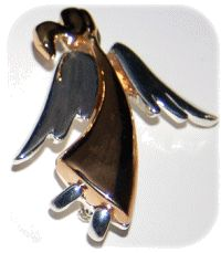 Angel Swaying 2 Tone Pin