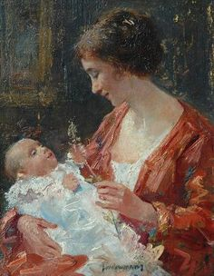 Mother and child by Simon Willem Maris https://www.amazon.com/Painting-Educational-Learning-Children-Toddlers/dp/B075C1MC5T