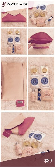 "L'Occitane Travel Set Gift set includes makeup/toiletry fabric bag, lotion, soap, L'Occitane En Provence"" Makeup"