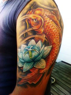 I like the flower on this tattoo