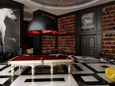 Almost magical game room interior design project by Philippe Starck. Feel inspired: www.luxxu.net   #philippestarck #interiordesign #homedecor