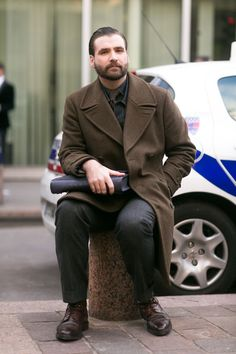 Street Style: Olive-Drab Todd Snyder Coat