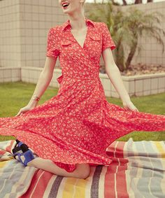 Another great find on #zulily! Red Heart of Me Wrap Dress #zulilyfinds