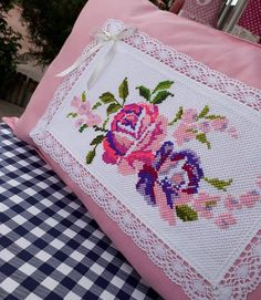 #home #elişi #elemeği #embroidery #handmade #handmade #decorating #dekorasyon #patishka_home #dantel #danteldegerlendirme #kanaviçe #kanevicedegerlendirmesi #evtekstili #elişi #elemeği #decorating #dekorasyon #hometextile #piketakimi #nevresimtakimi Indoor Activities For Kids, Baby Pillows, Bargello, Bed Styling, Cross Stitch Flowers, Ribbon Embroidery, Baby Knitting Patterns, Color Patterns, Diy And Crafts