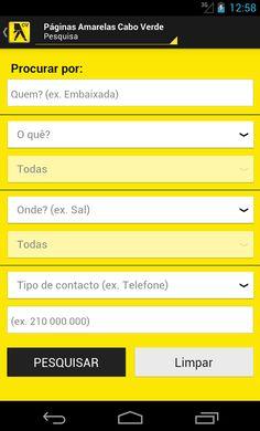 Pesquisa rápida e eficaz   www.paginasamarelas.cv