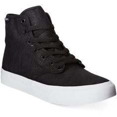 Vans Women's Camden High-Top Sneakers (54 BRL) ❤ liked on Polyvore featuring shoes, sneakers, black, kohl shoes, vans shoes, vans sneakers, high top sneakers and black hi tops