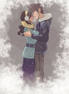 Humanized Toothiana and Jack Frost. I'm not for jackiana, but this was an amazing drawing