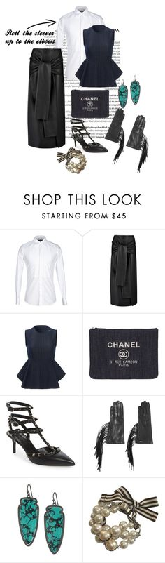 """Untitled #30"" by andrew-tillman ❤ liked on Polyvore featuring Balmain, Dolce&Gabbana, Joseph, Theory, Chanel, Valentino, Prada, Kendra Scott and Henri Bendel"